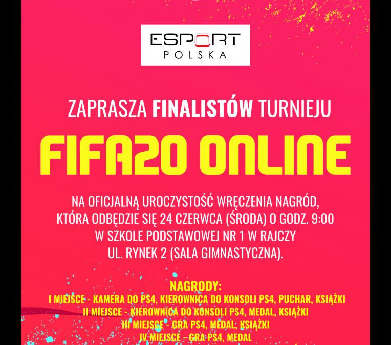Wręczenie nagród finalistom Turnieju FIFA20 Online powiatu żywieckiego